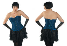Woman wearing corset Royalty Free Stock Photography