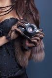 Woman wearing corset Stock Photography
