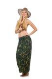 Woman wearing cowboy hat Royalty Free Stock Image