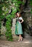 Woman wearing dirndl Royalty Free Stock Photo