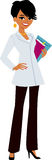 Woman wearing doctor's white coat Stock Image