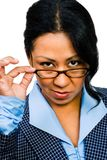 Woman wearing eyeglasses Stock Photos