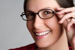 Woman Wearing Eyeglasses Royalty Free Stock Image