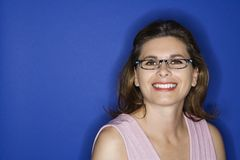 Woman wearing eyeglasses. royalty free stock images