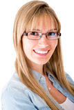 Woman wearing eyeglasses Stock Image