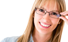 Woman wearing eyeglasses Stock Photo