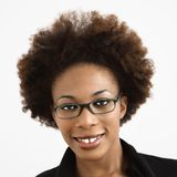 Woman wearing eyeglasses Stock Photography