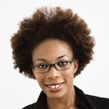 Woman wearing eyeglasses Stock Photography