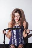 Woman wearing eyeglasses Stock Image
