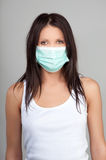 Woman wearing face mask Royalty Free Stock Photo