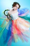 Woman wearing fairy costume Stock Photo