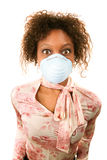 Woman wearing flu mask Royalty Free Stock Photography