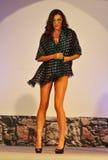 Woman wearing foulard at fashion show Stock Image