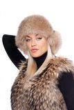 Woman wearing fur Stock Photography