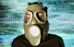 Woman wearing gas mask Royalty Free Stock Image