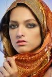 Woman wearing glamorous make up Royalty Free Stock Photo