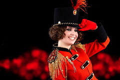 woman wearing glamour uniform Stock Photography