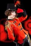 Woman wearing glamour uniform Stock Photo