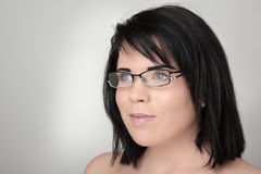Woman wearing glass Royalty Free Stock Photo