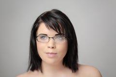 Woman wearing glass Stock Image