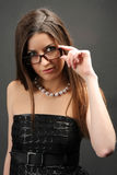 Woman Wearing Glasses Royalty Free Stock Photos