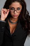 Woman Wearing Glasses. Beautiful latin woman wearing glasses royalty free stock images