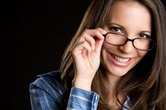 Woman Wearing Glasses Stock Photos