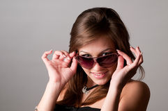 Woman wearing glasses Royalty Free Stock Photo