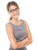 Woman wearing glasses eyewear stock image