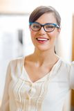 Woman Wearing Glasses In Store Stock Photos