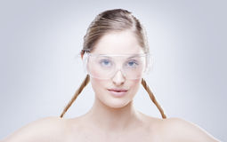 Woman Wearing Goggles Royalty Free Stock Photo