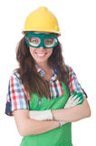 Woman wearing goggles Royalty Free Stock Image