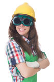Woman wearing goggles Stock Photography