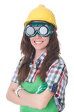 Woman wearing goggles Stock Photos