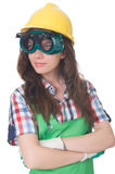 Woman wearing goggles Royalty Free Stock Images