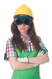 Woman wearing goggles Stock Image