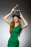 Woman wearing green dress Royalty Free Stock Photo