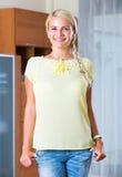 Woman wearing hair in braids Stock Image