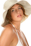 Woman wearing hat Royalty Free Stock Photography