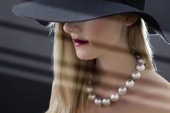Woman Wearing Hat Stock Photos