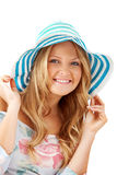 Woman wearing a hat Royalty Free Stock Photos
