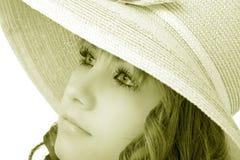 Woman wearing a hat Stock Photo