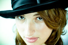 Woman wearing hat Royalty Free Stock Photos