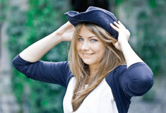 Woman wearing hat Stock Photos