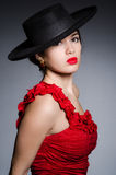 Woman wearing hat Royalty Free Stock Images