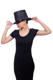 Woman wearing hat Stock Photography