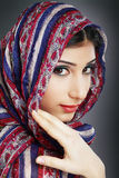 Woman wearing head scarf Royalty Free Stock Photos