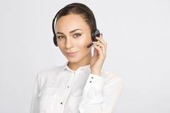 Woman wearing Headphones Stock Photos