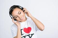 Woman wearing Headphones Royalty Free Stock Photo