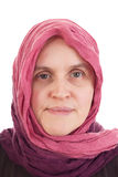 Woman wearing headscarf Stock Photo